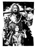 The Hound and Arya Stark by B3NN3TT
