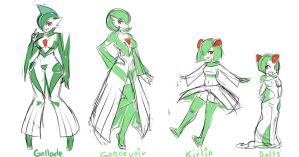 Gardevoir Evolutions by ManiacPaint