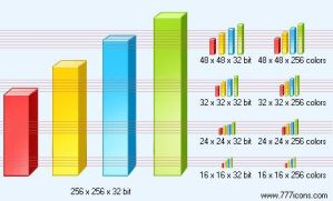 3d bar chart Icon by paper-icons