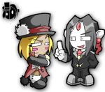IF: JJ and Asteroth Chibis by Zeurel