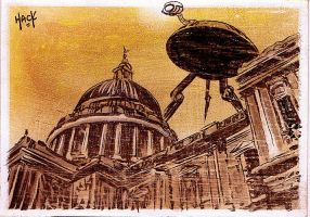 War of the Worlds: High Above St. Paul's Cathedral by RobertHack