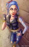 Art Trade: Rockabilly Biker Maya by Lukael-Art