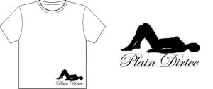 plain dirtee logo t-shirt by jrobbo
