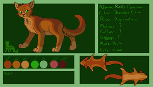 New Firepaw ref by SassyHeart