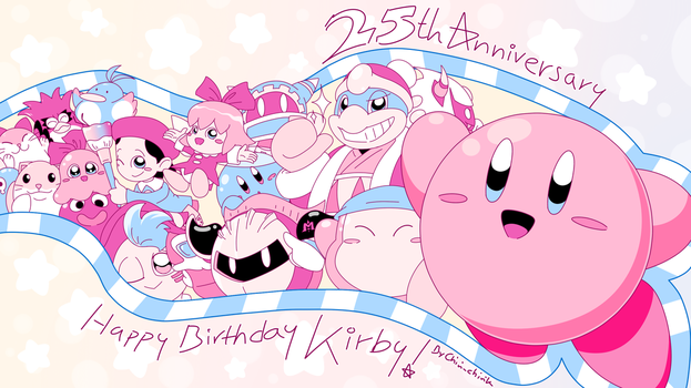 Kirby_The Anniversary Boy And The Gang by Chivi-chivik