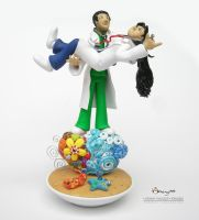 Aims and Jayp's Wedding Cake Topper by Dinuguan