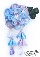 Commission: Dreamy Skies Kanzashi by SincerelyLove