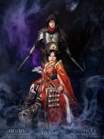 Diablo 3 Wizard and Demon Hunter cosplay duo by Seattle-Cosplay
