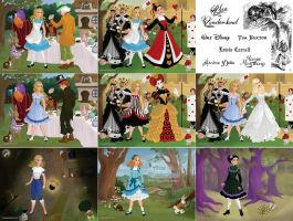 Alice in Wonderland Collage by M-Mannering