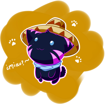 Kitty with Sombrero by eLirunes