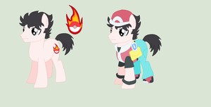 {MASCOT or PONIFICATION} Pokemon Trainer Red by sparkIinq