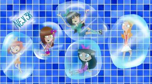 Request: Pnf girls - Soap bubble party by neji30000