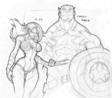 Cap and X-23 sketch by darnof