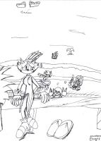 Sonic and Co. at Moffat Beach by SonicMon