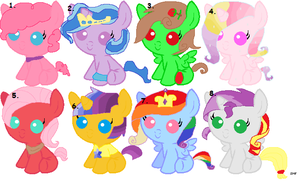 Baby Pony Adoptables!!! by Fluttershy613