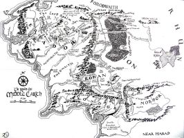 Middle-earth Map by Kilbeth