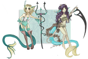 [1/2 OPEN] Leviathan adoptables by Meluru