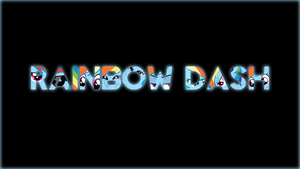 Rainbow Dash Simplistic Name Desktop Wallpaper by AlphaMuppet