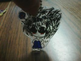 deathnote L keychain by aliciamarie923
