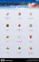 Christmas Snow icon by Faychen521