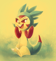 Tank the Chespin by MusicalCombusken