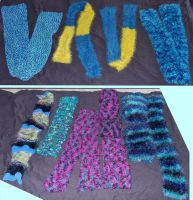 15 scarves against Cancer by MoonyMina