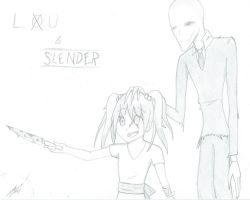 : Commission: Lou and Slender by RedElement