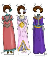 dresses for betsy jane in color by electricjesuscorpse