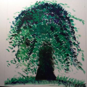 Weeping Willow Tree by meowmeowkitty123
