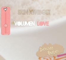 Skin XWidget Volumen Love by DeniseeBieber