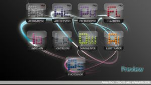 Preview Adobe Suite Dock icons by InfinityK4fx