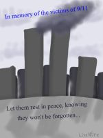 In memory of the 9/11 victims by LiveWireGoth