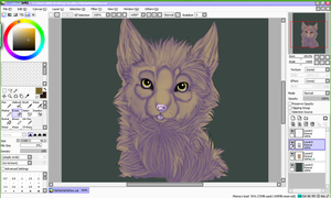 A Cat WIP by Vivial