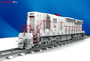 Loco EMD SD7 by Warriorash