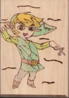 Wood Burned Link by XfrasierX