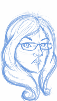 Quick self portrait sketch by Izzabell