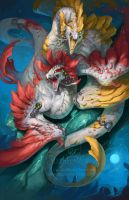 2014 Zodiac Dragons - Pisces by The-SixthLeafClover