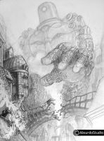 escaping the giant WIP2 by Absurdostudio-Krum