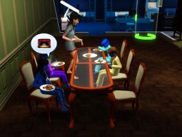 Sims 3 - Kitty sat with me and Beauregarde Girls by Magic-Kristina-KW