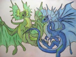 Two Dragons by leafeon-ex