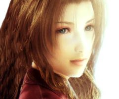 Pretty Aerith with open hair by Aorka