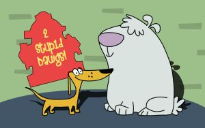 2 Stupid Dogs by arcapadine
