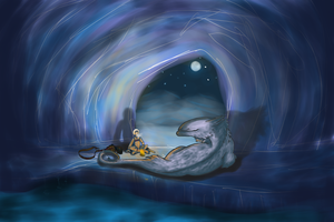 Waiting in the Ice Caves by Shinedriger