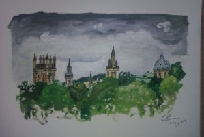 Oxford in Oil by TooDrunkToNotice