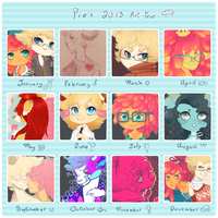 .:2013 Summary of Art:. by Pieology