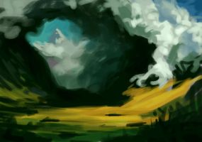 Storm In the Mountains doodle by CorvusHound