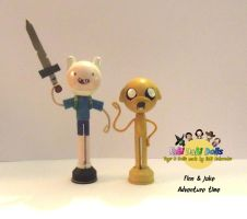 finn and jake peg dolls by tombirrellart