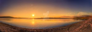 Peaceful Sunset by nbpetrov
