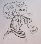 ''Daily'' sketch - Useless Lizard. by 0laffson