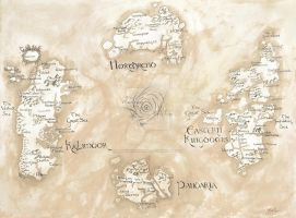 Map of Azeroth- World of Warcraft by UnwoundRibbon